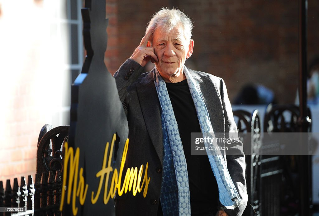 Ian McKellen attends the UK Premiere of 'Mr Holmes' at ODEON Kensington on June 10, 2015 in London, England.