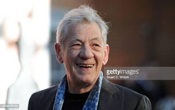 Ian McKellen attends the UK Premiere of Mr Holmes at ODEON Kensington on June 10 2015 in London England