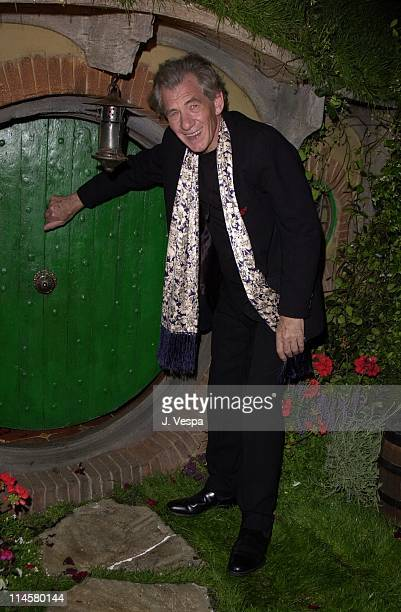 Ian McKellen during Cannes 2001 'The Lord of the Rings' Party in Cannes France