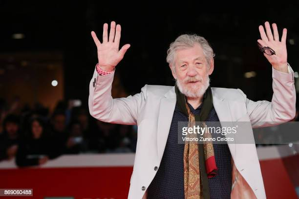 Ian McKellen walks a red carpet for 'Ian McKellen Playing The Part' during the 12th Rome Film Fest at Auditorium Parco Della Musica on November 1...