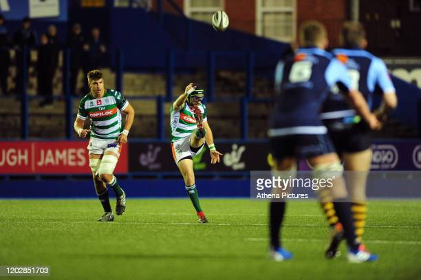 Ian McKinley of Benetton Treviso in action during the Guinness Pro14 Round 12 match between the Cardiff Blues and Benetton Rugby at Cardiff Arms Park...