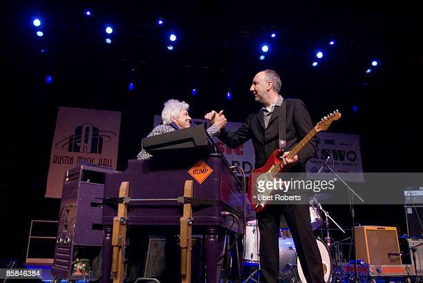 Ian McLagan and Pete Townshend performing on stage at the Austin Convention Center ballroom during South by South West Austin Texas United States...