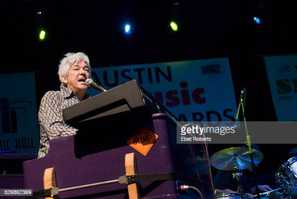 Ian McLagan performing on stage at the Austin Convention Center ballroom during South by South West Austin Texas United States 14th March 2007