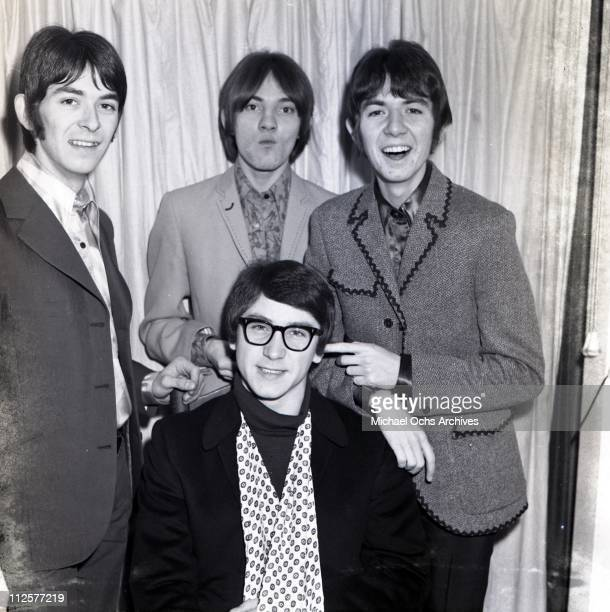 """Ian McLagan, Steve Marriott, Ronnie Lane and Kenney Jones of the rock and roll band """"Small Faces"""" pose for a portrait in circa 1966."""
