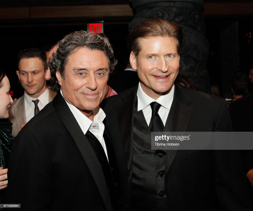 Ian McShane and Crispin Glover attend the premiere of Starz's 'American Gods' after party on April 20, 2017 in Hollywood, California.