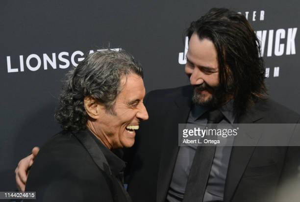 Ian McShane and Keanu Reeves arrives for the Special Screening Of Lionsgate's John Wick Chapter 3 Parabellum held at TCL Chinese Theatre on May 15...