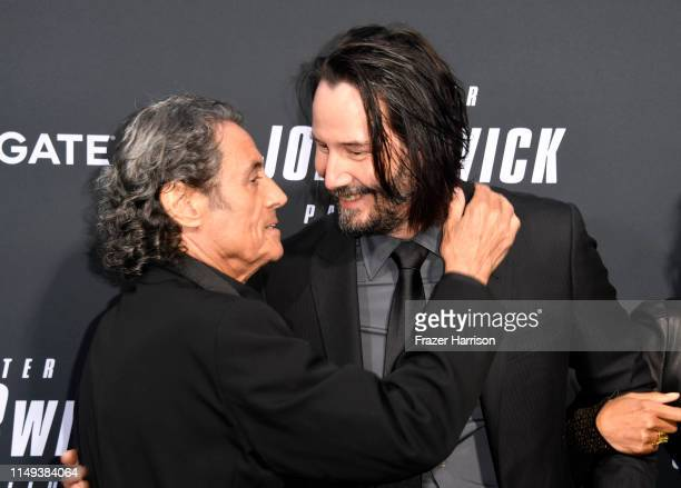 Ian McShane and Keanu Reeves attend the special screening of Lionsgate's John Wick Chapter 3 Parabellum at TCL Chinese Theatre on May 15 2019 in...
