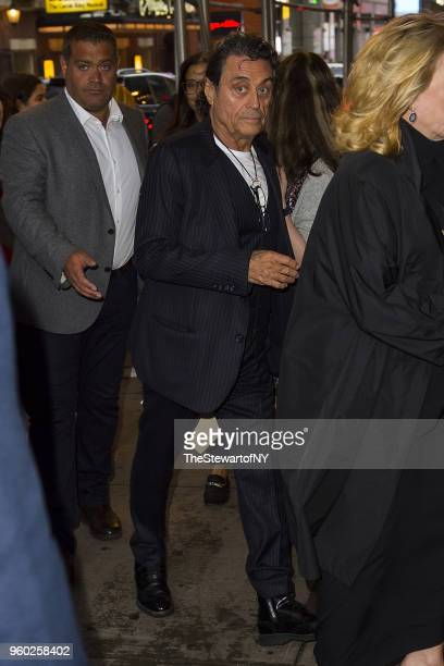 Ian McShane arrives at Letter Live New York at Town Hall on May 19 2018 in New York City