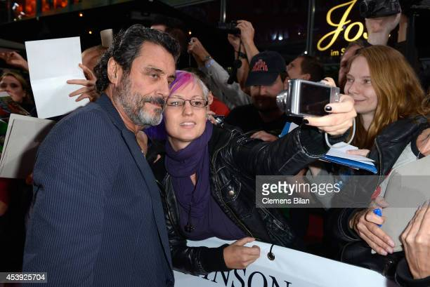 Ian McShane attends the Europe premiere of Paramount Pictures 'Hercules' at CineStar on August 21, 2014 in Berlin, Germany.