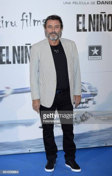 Ian McShane attends the premiere of 'El Nino' at Kinepolis Cinema on August 28 2014 in Madrid Spain