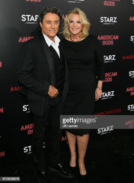 Ian McShane attends the premiere Of Starz's 'American Gods' on April 20 2017 in Hollywood California