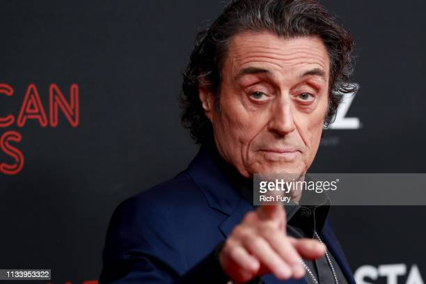"""Ian McShane attends the premiere of STARZ's """"American Gods"""" season 2 at Ace Hotel on March 05, 2019 in Los Angeles, California."""