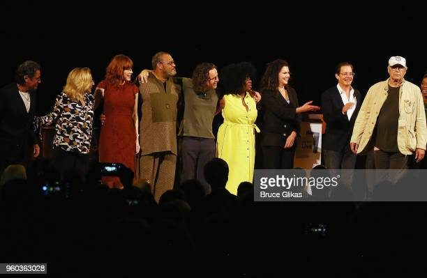 Ian McShane Edie Falco Molly Ringwald Laurence Fishburne Jamie Byng Uzo Aduba Lauren Graham Klyle MacLachlan and Chevy Chase during the final bows in...