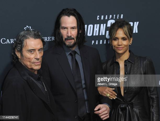 Ian McShane Keanu Reeves and Halle Berry arrive for the Special Screening Of Lionsgate's John Wick Chapter 3 Parabellum held at TCL Chinese Theatre...