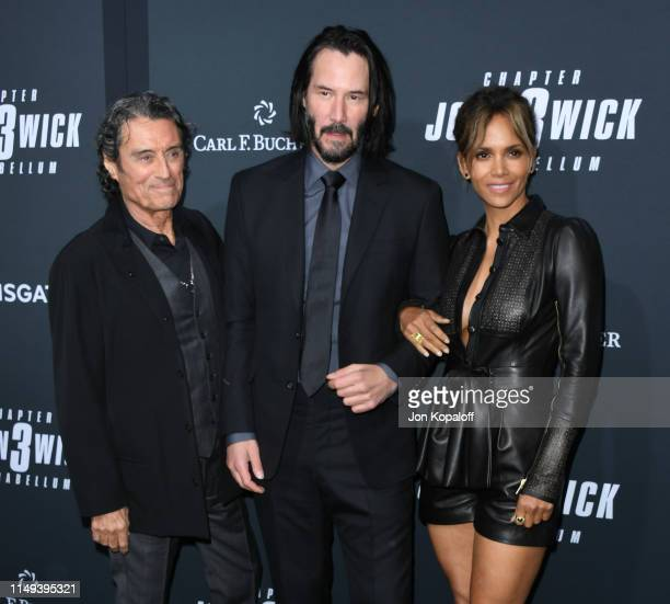 Ian McShane Keanu Reeves and Halle Berry attend the Special Screening Of Lionsgate's John Wick Chapter 3 Parabellum at TCL Chinese Theatre on May 15...