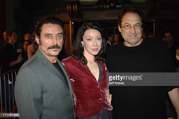 Ian McShane, Molly Parker and David Milch, creator/executive producer