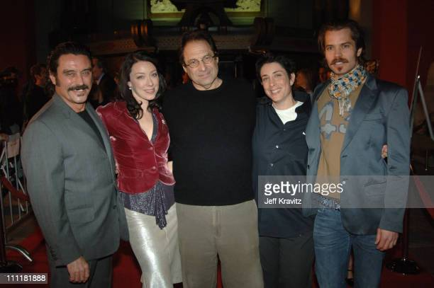 Ian McShane, Molly Parker, David Milch, creator/executive producer, guest and Timothy Olyphant