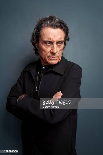 Ian McShane of Starz's 'American Gods' poses for a portrait at The Langham Huntington Pasadena on February 12 2019 in Pasadena California