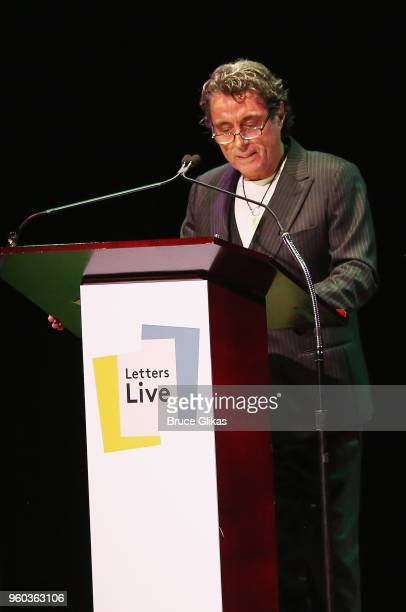 Ian McShane performs in the New York debut of the hit show 'Letters Live' at Town Hall on May 19 2018 in New York City