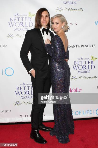 Ian Mellencamp and Jazmin Grace Grimaldi at Jean Shafiroff and Harry Benson among the Honorees for The Better World Awards Benefiting Wells of Lifeat...