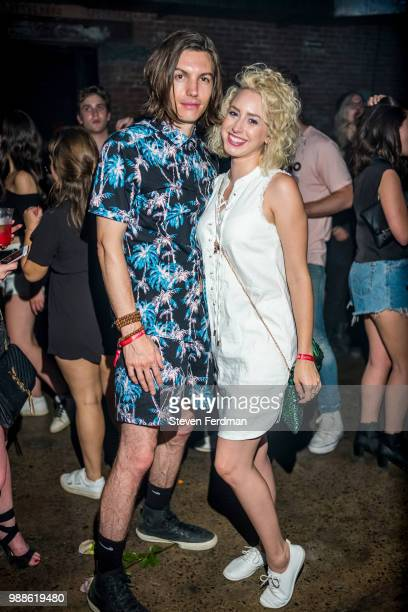 Ian Mellencamp and Jazmin Grace Grimaldi attend the 2018 Full Moon Festival at The Knockdown on June 30 2018 in Brooklyn New York
