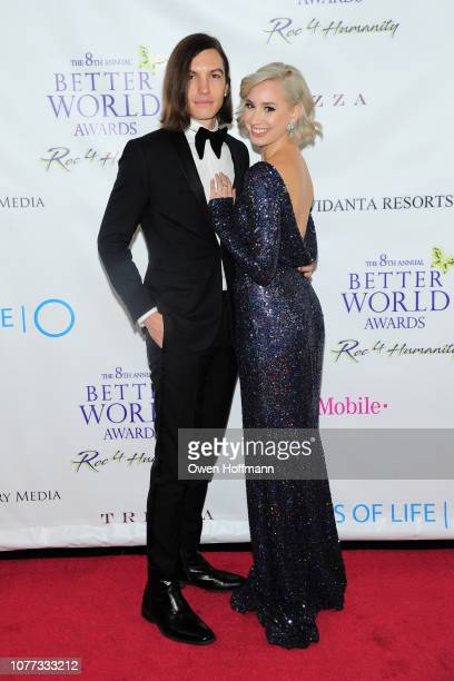 Ian Mellencamp and Jazmin Grimaldi attend Wells Of Life Charity Benefits At The 8th Annual Better World Awards Event Roc4Humanity at The Loeb...
