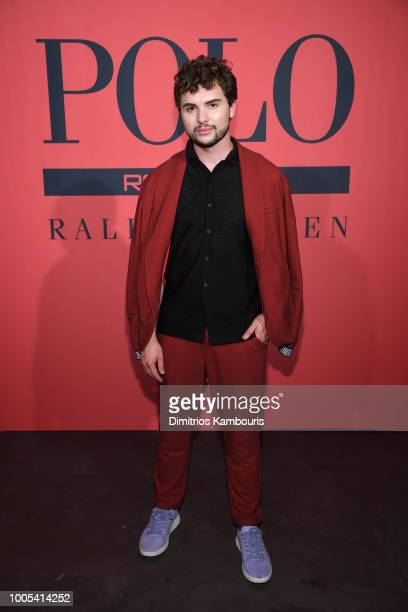 Ian Michael Crumm attends the Polo Red Rush Launch Party with Ansel Elgort at Classic Car Club Manhattan on July 25 2018 in New York City