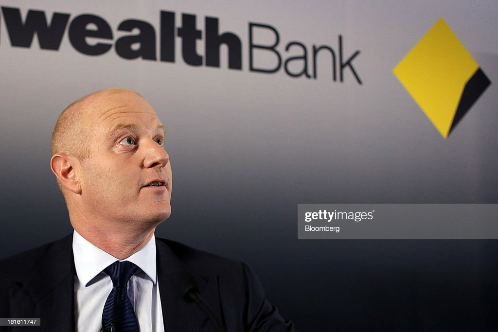 Ian Narev, chief executive officer of Commonwealth Bank of Australia, speaks during a news conference in Sydney, Australia, on Wednesday, Feb. 13, 2013. Commonwealth Bank of Australia, the nation's biggest lender, said first-half profit rose 1 percent to a record as retail banking and wealth management earnings increased. Photographer: Brendon Thorne/Bloomberg via Getty Images