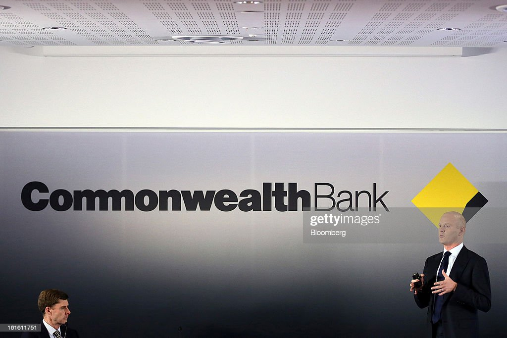 Ian Narev, chief executive officer of Commonwealth Bank of Australia, right, speaks as David Craig, chief financial officer, listens during a news conference in Sydney, Australia, on Wednesday, Feb. 13, 2013. Commonwealth Bank of Australia, the nation's biggest lender, said first-half profit rose 1 percent to a record as retail banking and wealth management earnings increased. Photographer: Brendon Thorne/Bloomberg via Getty Images
