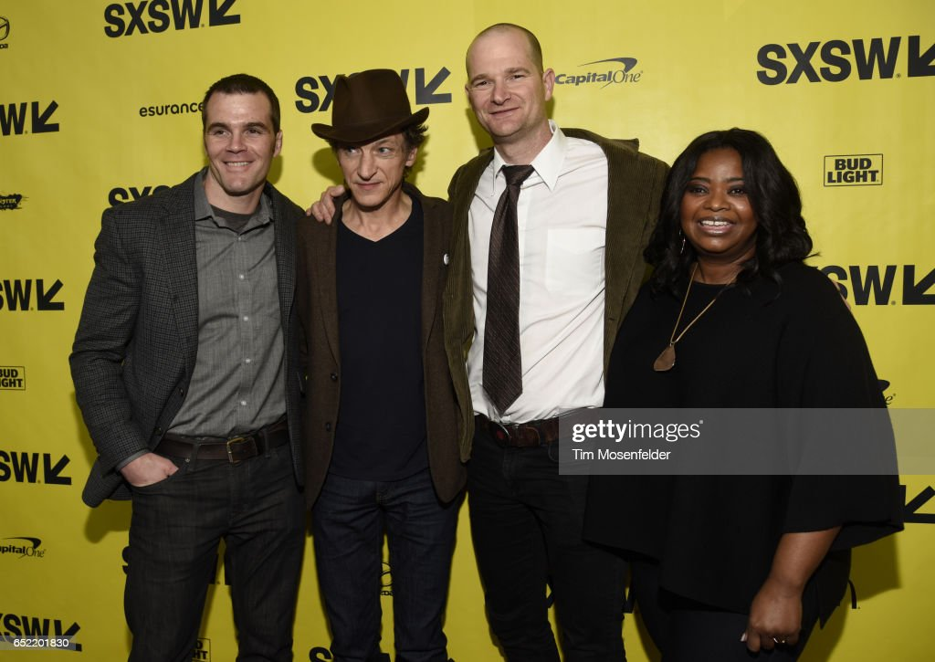 Ian Nelms, John Hawkes, Eshom Nelms, and Octavia Spencerattend the Film premiere of 'Small Town Crime' during 2017 SXSW Conference and Festivals at the Paramount Theater on March 11, 2017 in Austin, Texas.