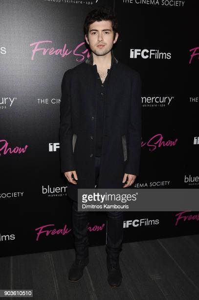 Ian Nelson attends the premiere of IFC Films' 'Freak Show' hosted by The Cinema Society at Landmark Sunshine Cinema on January 10 2018 in New York...
