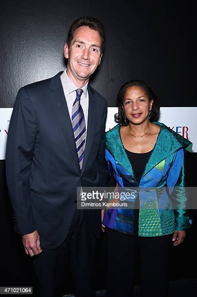 Ian O Cameron and Susan Rice attend The New Yorker's White House Correspondents' Dinner Weekend PreParty hosted by David Remnick at the W Hotel...