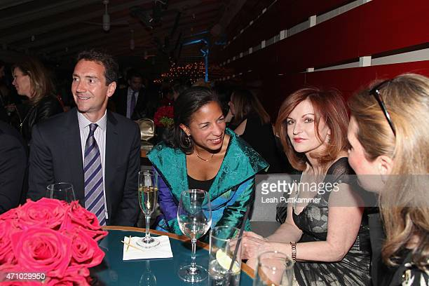 Ian O Cameron Susan Rice and Maureen Dowd attend The New Yorker's White House Correspondents' Dinner Weekend PreParty hosted by David Remnick at the...