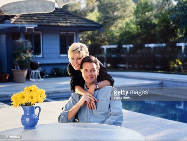 Ian Ogilvy with Kathryn Holcomb is an English actor and novelist he married Kathryn Holcomb in 1992 photographed February 26 1991 at his home in...