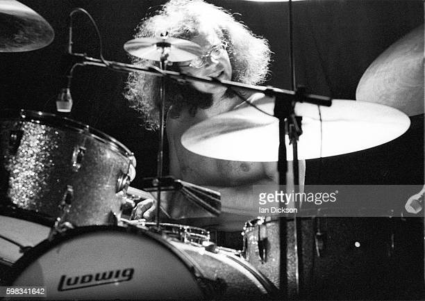 Ian Paice of Deep Purple performing on stage at Hammersmith Odeon London 09 April 1974