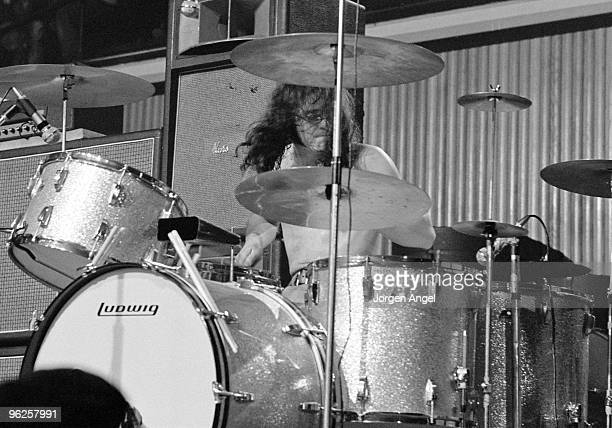 Ian Paice of Deep Purple performs on stage at KB Hallen on March 1st 1972 in Copenhagen Denmark