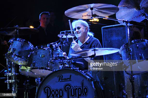 Ian Paice of Deep Purple performs on stage at O2 Arena on November 30 2011 in London United Kingdom