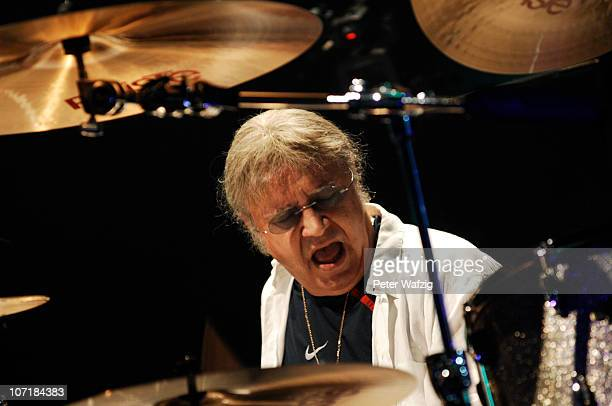 Ian Paice of Deep Purple performs on stage at the Grugahalle on November 28 2010 in Essen Germany