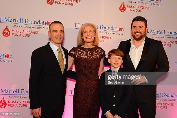 Ian Pietenpol, Jennifer Pietenpol PHD, Gaven Pietenpol, and Chris Young attend the TJ Martel Honors Gala at Omni Hotel on February 29, 2016 in...