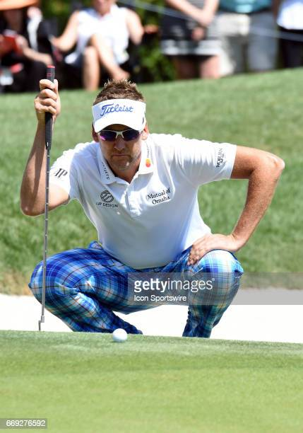 Ian Poulter during the final round of the RBC Heritage Presented by Boeing Golf Tournament on April 16 at Harbour Town Golf Links in Hilton Head...
