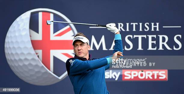 Ian Poulter of Engalnd on the 17th tee during the second round of the British Masters at Woburn Golf Club on October 9 2015 in Woburn England