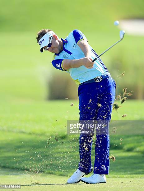 Ian Poulter of England during the proam as a preview for The Honda Classic on the Champions Course at the PGA National Resort and Spa on February 25...