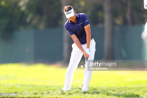 Ian Poulter of England during the third round of The Northern Trust on August 25, 2018 at the Ridgewood Championship Course in Ridgewood, New Jersey.