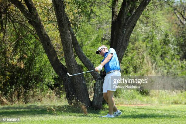 Ian Poulter of England in action during the proam for the Nedbank Golf Challenge at Gary Player CC on November 08 2017 in Sun City South Africa