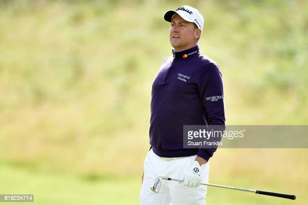 Ian Poulter of England on the 5th hole during the first round of the 146th Open Championship at Royal Birkdale on July 20 2017 in Southport England