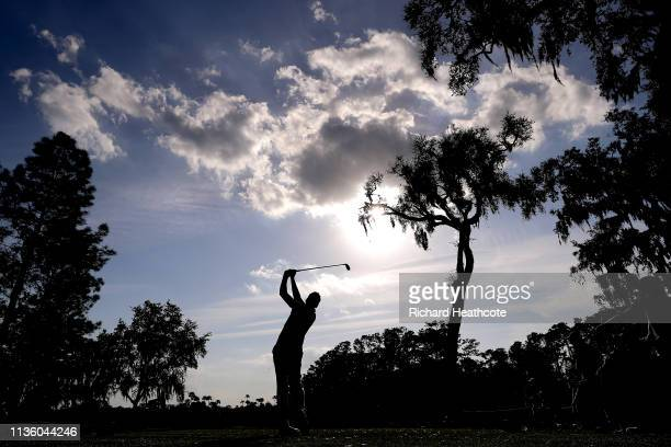 Ian Poulter of England plays his shot from the sixth tee during the second round of The PLAYERS Championship on The Stadium Course at TPC Sawgrass on...