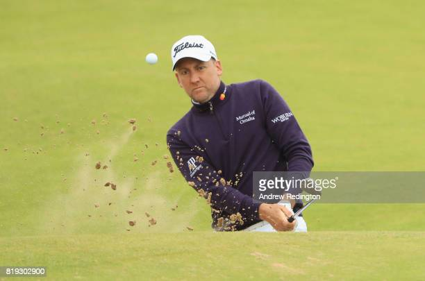 Ian Poulter of England plays his third shot on the 17th hole during the first round of the 146th Open Championship at Royal Birkdale on July 20 2017...
