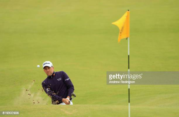 Ian Poulter of England plays his third shot on the 17th hole during the first round of the 146th Open Championship at Royal Birkdale on July 20, 2017...