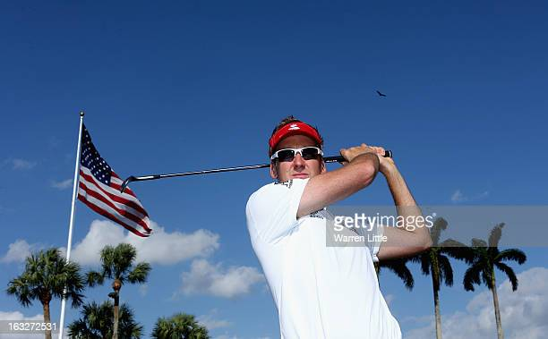 Ian Poulter of England poses for a picture ahead of the WGC Cadillac Championship at the Doral Golf Resort Spa on March 6 2013 in Miami Florida