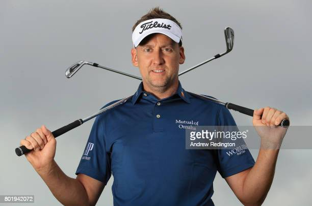 Ian Poulter of England poses for a portrait during practice for the HNA Open de France at Le Golf National on June 27 2017 in Paris France